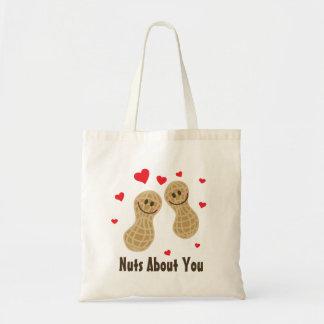Loucos sobre você desenhos animados bonitos do bolsa tote