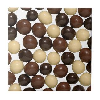 Loucura do chocolate azulejo quadrado pequeno