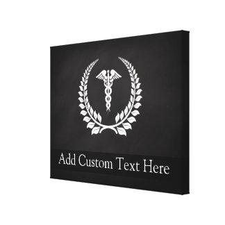 Louro médico do Caduceus Impressão Em Tela