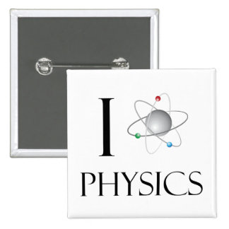 Love physics bóton quadrado 5.08cm