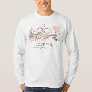 Lovebirds adoráveis na camisa da luva dos