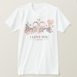 Lovebirds adoráveis na camisa dos namorados | do