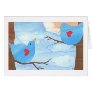 Lovebirds do dia dos namorados por Liz Wang Cartões