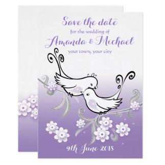 Lovebirds Pastel que wedding economias o cartão da