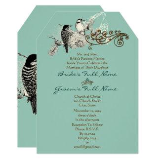 Lovebirds rústicos que Wedding o convite