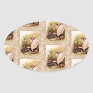 Lovely - Fairy Angel Oval Sticker