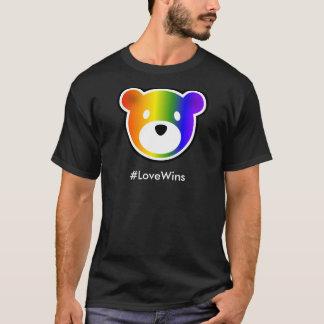 #LoveWins de GROWLr escuros Tshirts