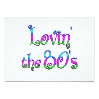 Lovin o anos 80 convite 12.7 x 17.78cm