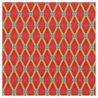 Lozenges pequenos vermelhos/azul tecido