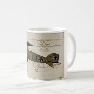 Lt de Albatros. Caneca de café de Von Hipple WWI