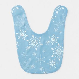 Lt dos flocos de neve. Azul Babadores