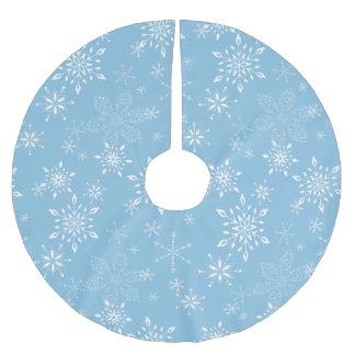 Lt dos flocos de neve. Azul Cobertura Para Árvore De Natal De Poliéster