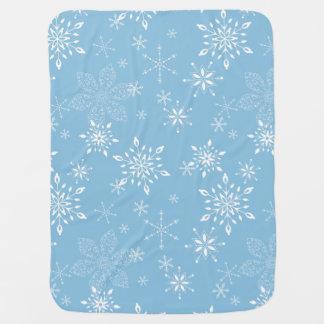 Lt dos flocos de neve. Azul Mantas De Bebe
