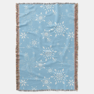 Lt dos flocos de neve. Azul Throw Blanket