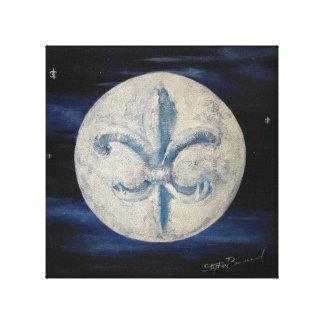 """Lua 10"""" da flor de lis x 10"""" impressão das canvas"""
