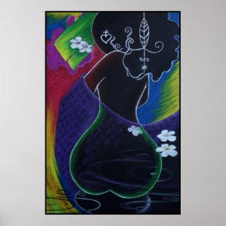 Lua africana - impressão de Miami Deco