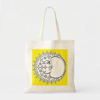 lua amarela bolsas para compras