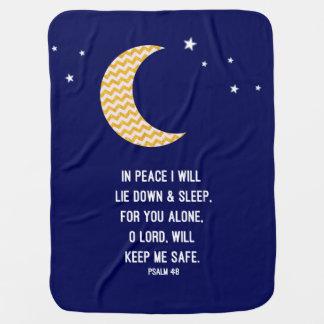 Lua calma do brilho do ouro do sono, do marinho & cobertor para bebe
