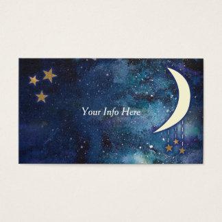 Lua & cartão de visita das estrelas