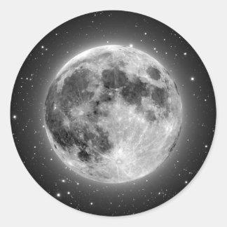 Lua cheia adesivo redondo