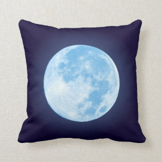 Lua cheia azul almofada