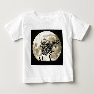 Lua cheia camiseta para bebê