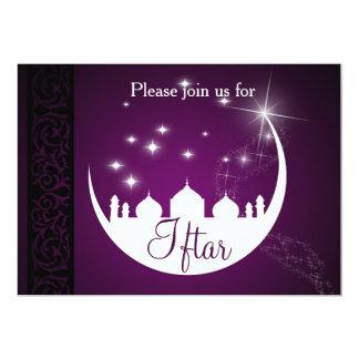 Lua com convite de festas de Iftar da silhueta da