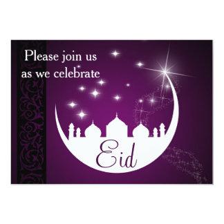 Lua com silhueta da mesquita - convite de festas