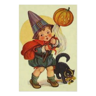 Lua da bruxa da abóbora da lanterna de Jack O do g Posters