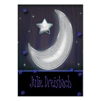 lua da noite cartão de visita grande