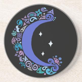 Lua de Boho e porta copos da bebida das estrelas
