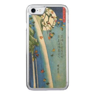 Lua de Hiroshige sobre umas belas artes do japonês Capa iPhone 7 Carved