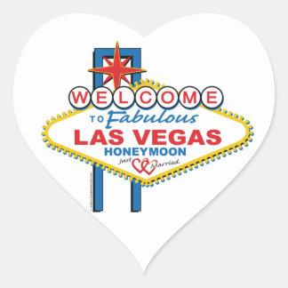 Lua de mel de Las Vegas Adesivo Coração
