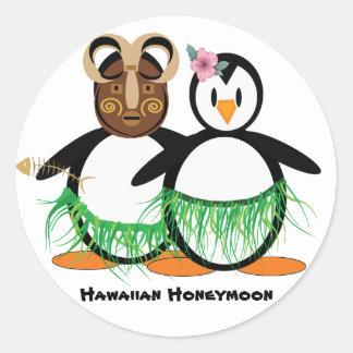 Lua de mel havaiana adesivo