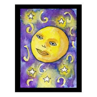 Lua de Snarky e cartão das estrelas