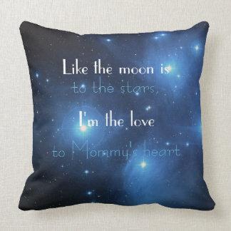 Lua do bebê do algodão à decoração celestial do almofada