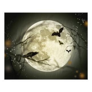 Lua do Dia das Bruxas Modelos De Panfleto