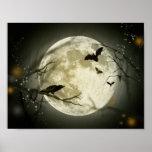 Lua do Dia das Bruxas Impressão