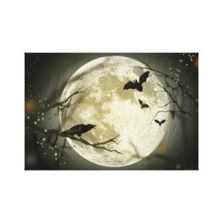 Lua do Dia das Bruxas Impressão Em Tela