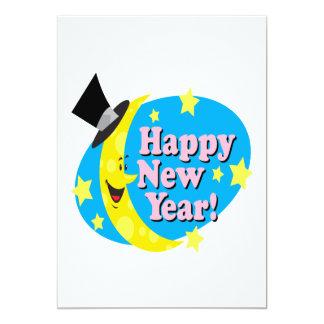 Lua do feliz ano novo convite