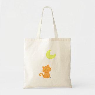 Lua do gato sacola tote budget