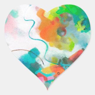 Lua do laço adesivo de coração