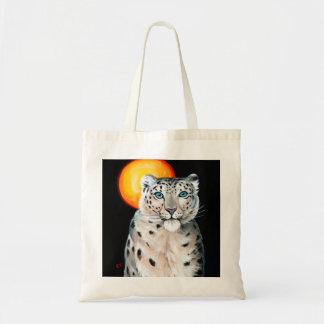 Lua do leopardo de neve bolsa tote