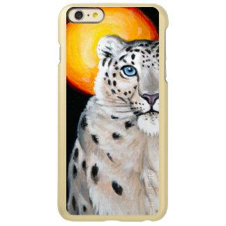 Lua do leopardo de neve capa incipio feather® shine para iPhone 6 plus