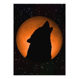 Lua do lobo impressão de foto