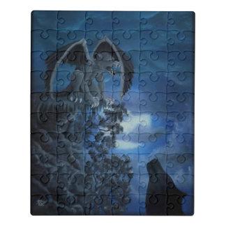 Lua do lobo - lobo com pintura a óleo do Golem