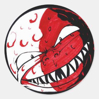 Lua do sangue adesivo redondo