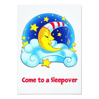 Lua do sono com Sleepover estrelado do céu do boné Convites Personalizado