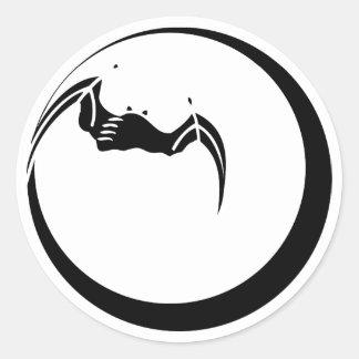 Lua e bastão adesivo redondo