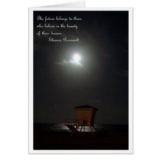 lua e cabana e cartão das citações